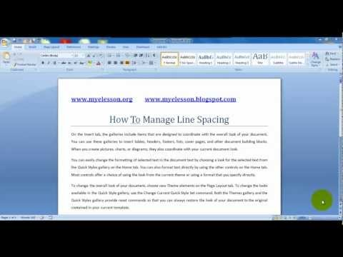 MS Word: Manage Line Spacing English