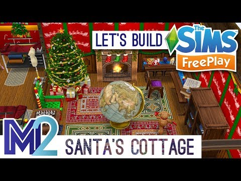 Sims FreePlay - Let's Build Santa's Workshop and Christmas Cottage (Live Build Tutorial)