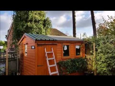 How to fit a metal panelled roof to a wooden shed