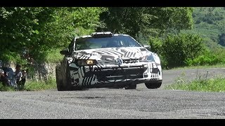 New Volkswagen Polo GTI R5 2018 action Tarmac Rally Test 17-07-18