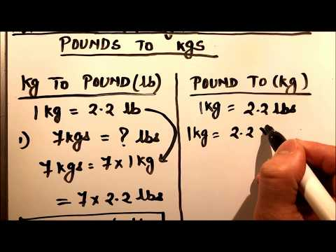 HOW TO CONVERT KILOGRAMS TO POUND (Kg TO lb ) AND POUNDS TO KILOGRAM(lb to kg)