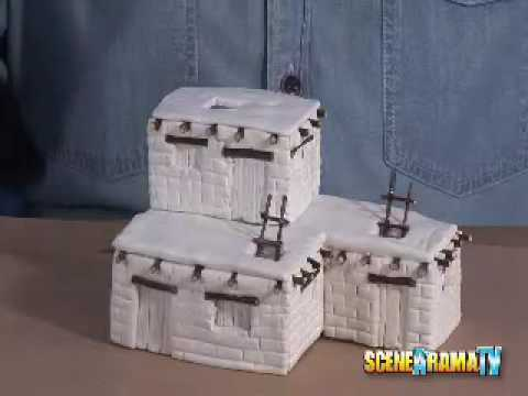 How To Build An Adobe Dwellings Diorama - School Project | Scene-A-Rama