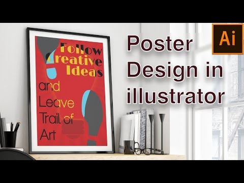 Creative Poster Design Illustrator Tutorial