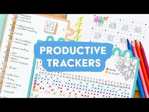 My Favorite Bullet Journal Trackers for Productivity | Sea Lemon