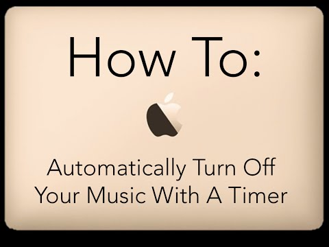 How To Automatically Turn Off Music With Timer: iPhone