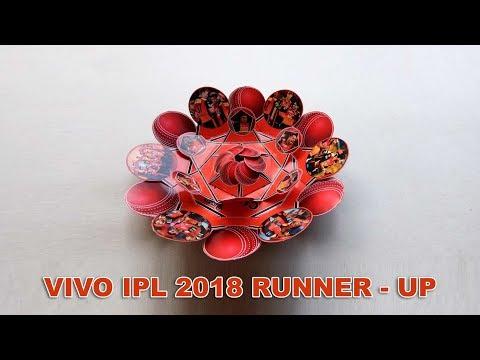 Vivo IPL 2018 Runner-up Sunrisers Hyderabad | DIY IPL Special Explosion Card