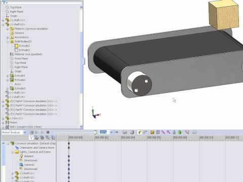 HOW TO MAKE A MOVING CONVEYOR IN SOLIDWORKS