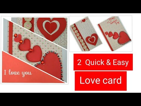 DIY Valentine Cards Handmade Greeting Cards for boyfriend - How to make Love Valentine Card ideas