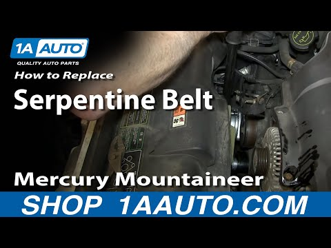 How To Install Replace Engine Serpentine Belt Tensioner 4.6L V8 Ford Explorer Mercury Mountaineer