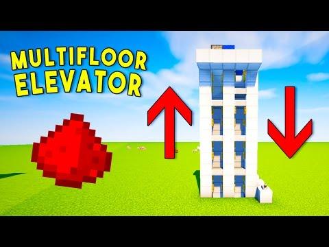 REALISTIC MULTIFLOOR REDSTONE ELEVATOR - Minecraft Redstone Tutorial