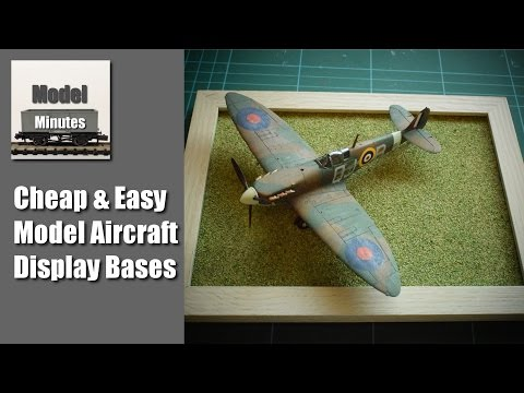 How To Make Cheap & Easy Display Bases for Model Aircraft