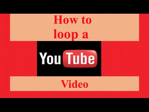 How to loop a youtube video - Youtube tutorial