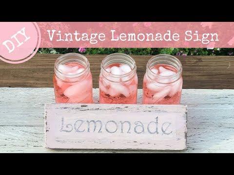 DIY Vintage Lemonade Sign | Vintage Kitchen Decor