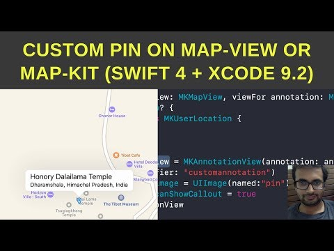 Add custom pin on map-view or Map-kit (Swift 4 + Xcode 9.2)