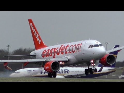 Storm Eleanor Insane Go-Arounds and Landings at Stansted Airport