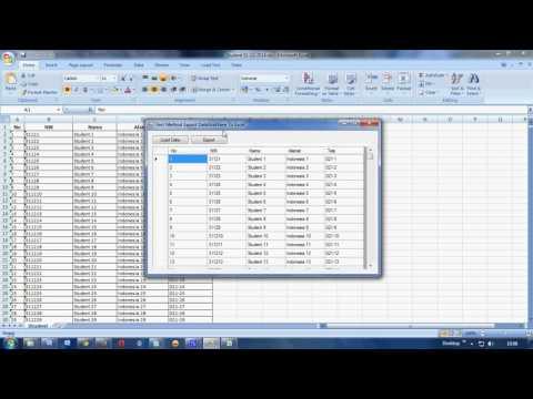 FASTEST Export DataGridView To Excel VB Net