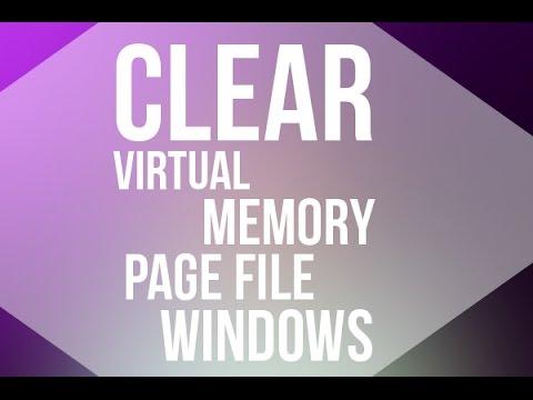Clear Virtual Memory Page File in Windows 8/ Windows 8.1/Windows 10