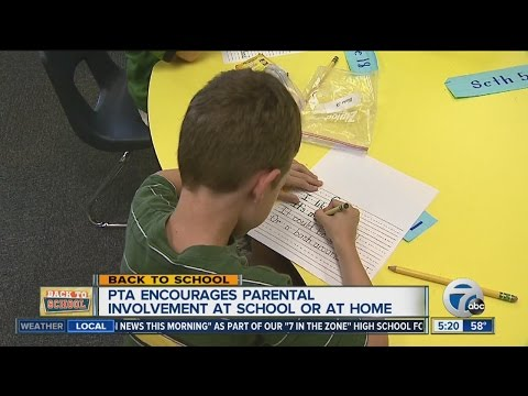 PTA encourages parental involvement at school or at home