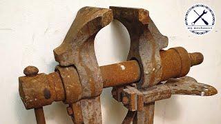 Rusty Imprecise Leg Vise - Perfect Restoration