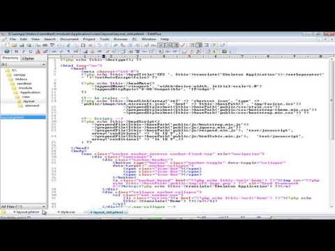 Zend Framework Tutorial in Hindi for Beginners#3 how to set layout in zend framework 2