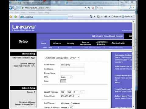 Linksys Wireless Router disable remote admin