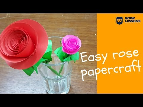 DIY Paper Rose Flower - DIY Paper Flowers - How to make Paper Rose with Crepe Paper