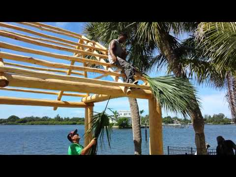 Building the tiki hut
