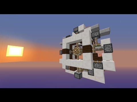 Seamless 3x3 Cross Piston Door - First of its kind   Minecraft 1.7.4+
