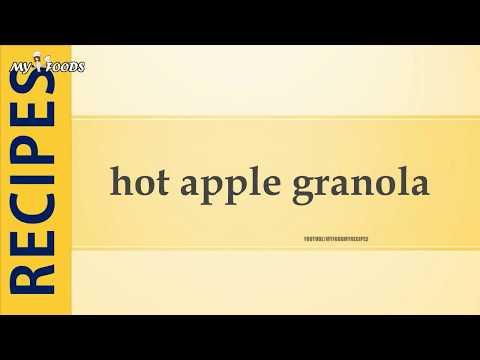 hot apple granola