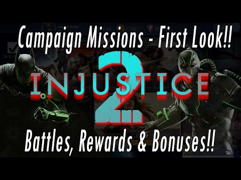 First Look At Campaign Mode - NEW 2017 Injustice 2 Mobile Game Gameplay Review