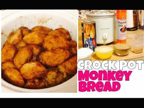 CROCK POT MONKEY BREAD | PILLSBURY BISCUIT | SIMPLE RECIPIE