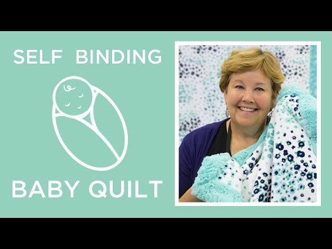 Self Binding Baby Blanket with Shannon Cuddle