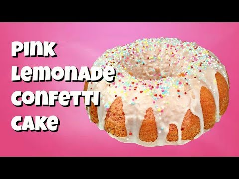 Pink Lemonade Confetti Cake || Gretchen's Bakery