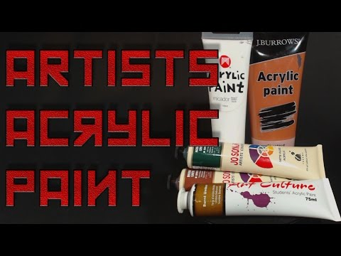Testing Artist's Acrylic Paints For Airbrushing