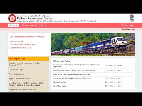 Railway Group-D Form Fillup With Post Preference and Online Payment
