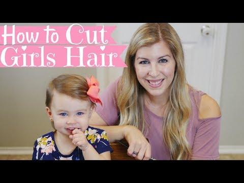 HOW TO CUT GIRLS HAIR | Basic Girls Trim | Haircut Tutorial | Baby's First Haircut