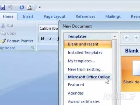 How to create a memo in Word