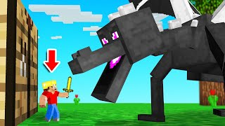 DEFEAT The ENDER DRAGON But I Am TINY! (Minecraft)
