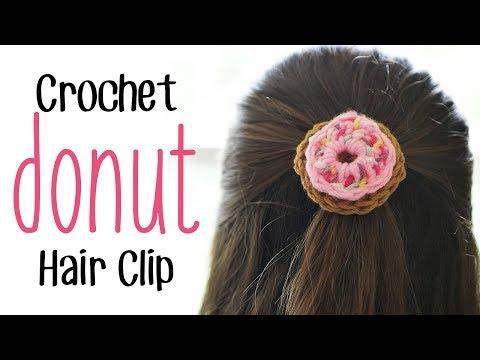 Crochet Donut Hair Clip