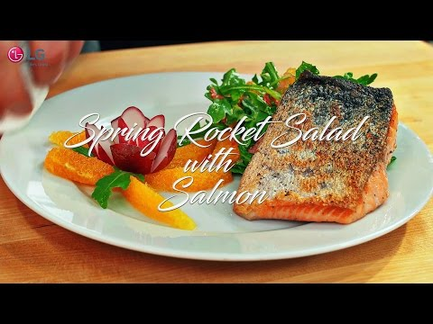 Spring Rocket Salad with Salmon