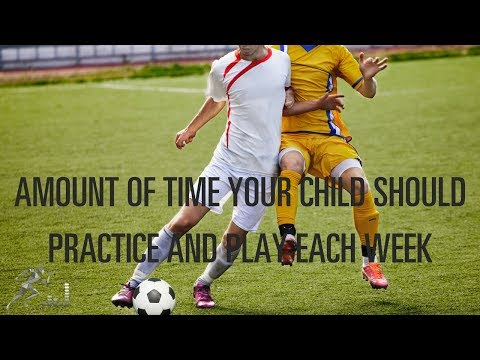 How much time should your child practice and play in games?