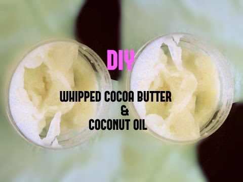DIY| Natural  Whipped Cocoa Butter & Coconut Oil Body Butter | Euniycemari