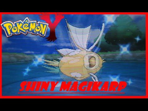 Shiny Magikarp in Pokémon Y After 42 FE'S! (WITH MEGA EVOLUTION)