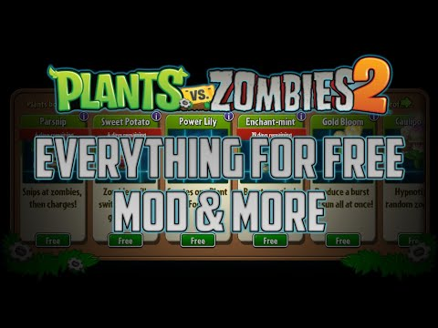 Plants vs Zombies 2 [EVERYTHING FOR 1 GEM  + MAX LVL + COSTUMES + FREE DOWNLOAD + NO ROOT] [UPDATED]