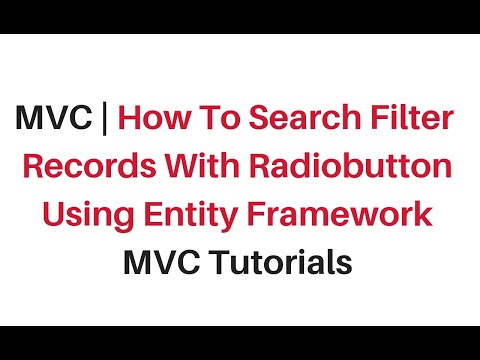 mvc search filter radiobutton from database with entity framework c#4.6
