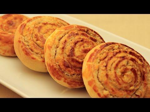 Sweet Tahini Buns - Turkish Walnut Bread Rolls