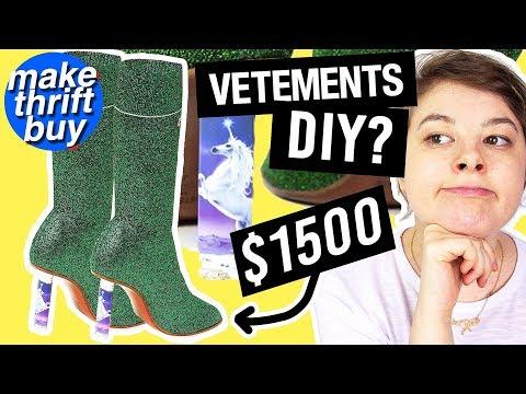 DIY UNICORN SOCK BOOTS   Make Thrift Buy #62