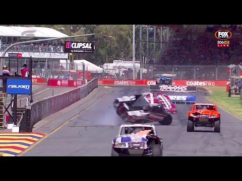 Creed Rolls At Finish And Saves It! Race 3 | Stadium Supertrucks - Adelaide 2015