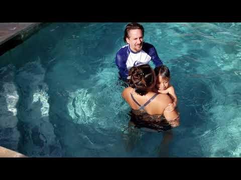 Bodhi at 18 months. Swimming