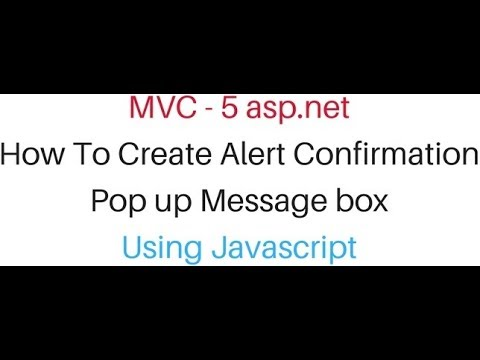 alert mvc viewbag popup confirm message box with javascript